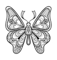 Zentangle black Butterfly for adult anti vector image vector image