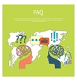 FAQ information sign icon vector image