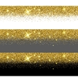 gold glitter card templates vector image