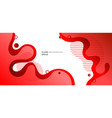 abstract modern fluid or liquid red gradient vector image