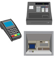 Atm pos and cash register vector image vector image