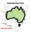 australian track road vector image vector image