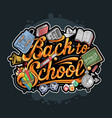 back to school typography artwork vector image