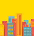 background big city vector image vector image