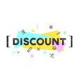 banner discount speech bubble vector image vector image