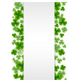 banner with clovers vector image vector image