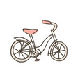 bike doodle icon hand drawn sketch in vector image