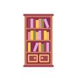 book shelf flat icon vector image