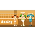 Boxing team awarding at ringside vector image