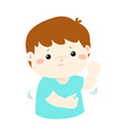 boy scratching itching rash on his body vector image vector image