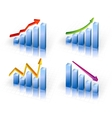 Business Graph with arrow showing profits and vector image vector image
