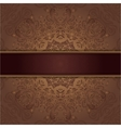 card with abstract lace pattern and ribbon vector image vector image