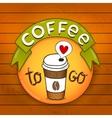 Cartoon coffee badge coffee vector image