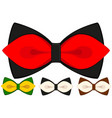 cartoon icon poster man father dad day bow tie vector image vector image