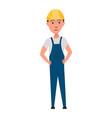 character builder profession men worker vector image vector image