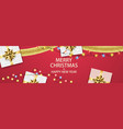 christmas composition with gifts and garlands vector image