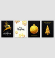christmas party flyer design- golden ornaments vector image vector image