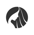 circle women hair logo creative concept vector image vector image