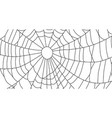 cobweb isolated on white background spiderweb vector image vector image