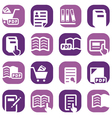 color books icons set vector image vector image