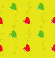 color seamless pattern of red and green balloons vector image
