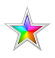 colorful radial gradient in star shaped badge vector image vector image