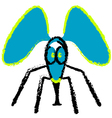 crazy fly vector image vector image