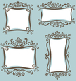 cute girly frames vector image