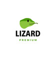 cute little lizard cartoon logo icon vector image vector image