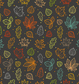 Different leaves silhouettes seamless pattern vector image vector image