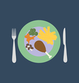 Dinner vector image