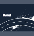 dirty curve winding road abstract background