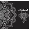 elephant thai flower head of elephant image vector image