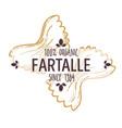 farfalle type italian pasta cuisine italy vector image vector image