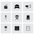 Filming icon set vector image vector image