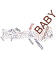 five essential baby shower gifts text background vector image vector image