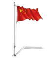 Flag Pole China vector image vector image