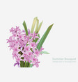 floral blossom bouquet spring summer delicate vector image vector image