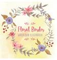 floral border watercolor vector image