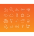 Food mono line icon set vector image vector image