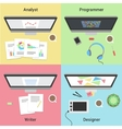 Freelance infographic Working with laptop Web vector image vector image