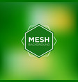 grassy mesh background vector image vector image