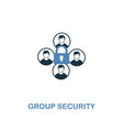 group security icon in two colors premium design vector image vector image