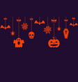 halloween hanging ornaments background vector image