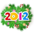 happy new year 2012 design element vector image