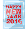 Happy new year 2016 Mauled background broken vector image
