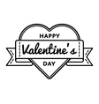 Happy Valentines day greeting emblem vector image