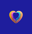 heart colorful gradient logotype charity vector image vector image