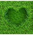 Heart on green grass vector | Price: 1 Credit (USD $1)