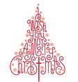 I wish you a merry Christmas card vector image vector image